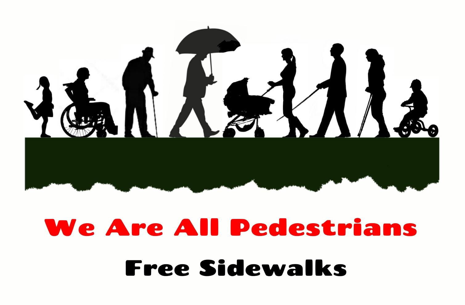 Pedestrians sidewalks