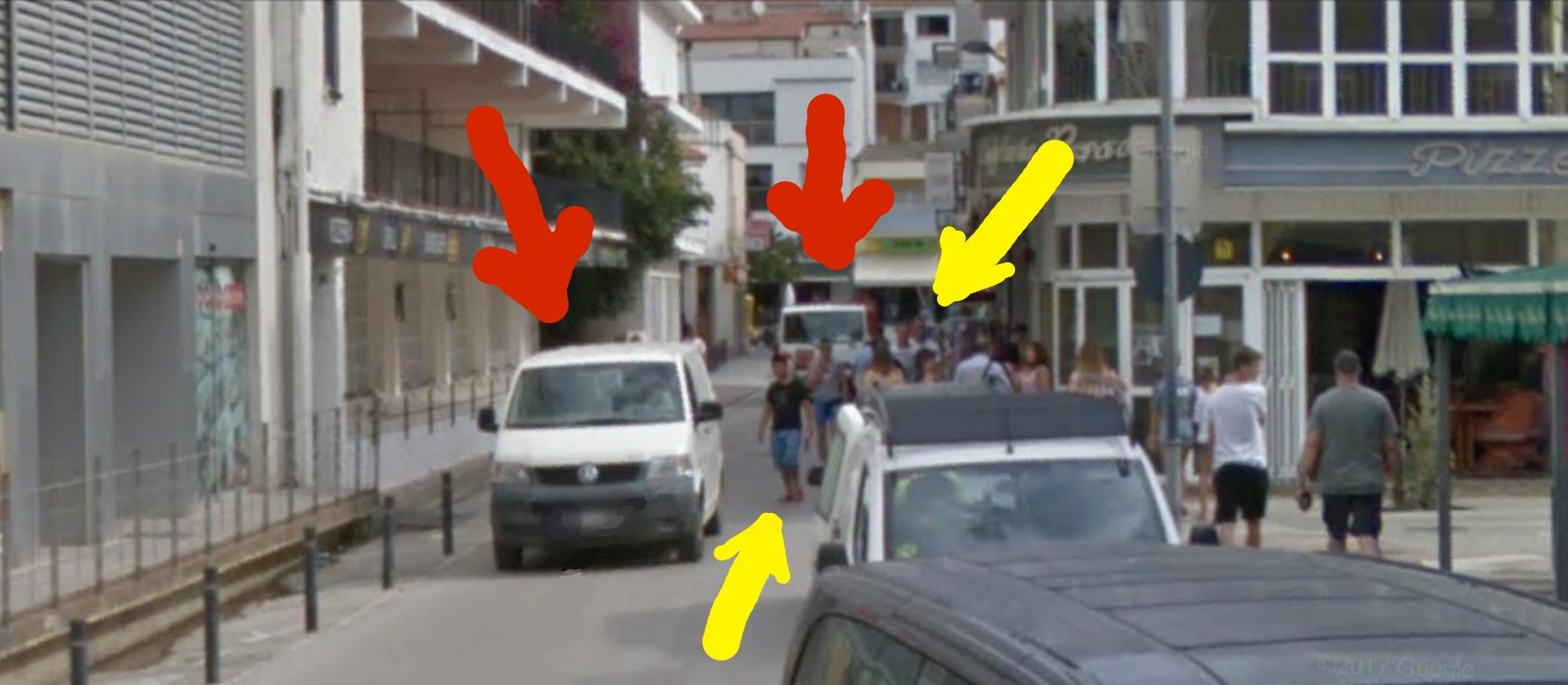 Sidewalks Pedestrians Estartit
